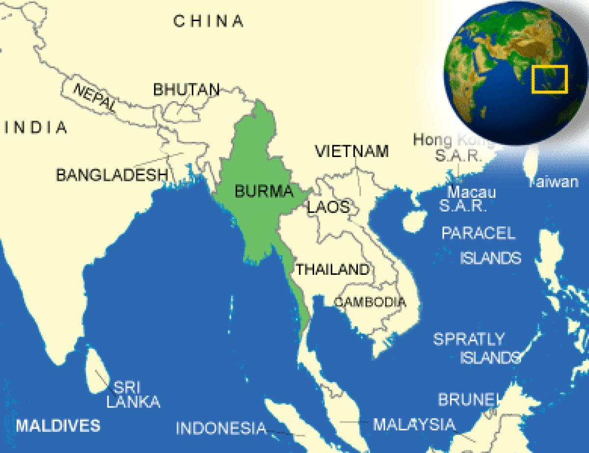 Karte Anzeigen.Landkarte Burma Myanmar Birma Oder Myanmar Karte Sud Ost
