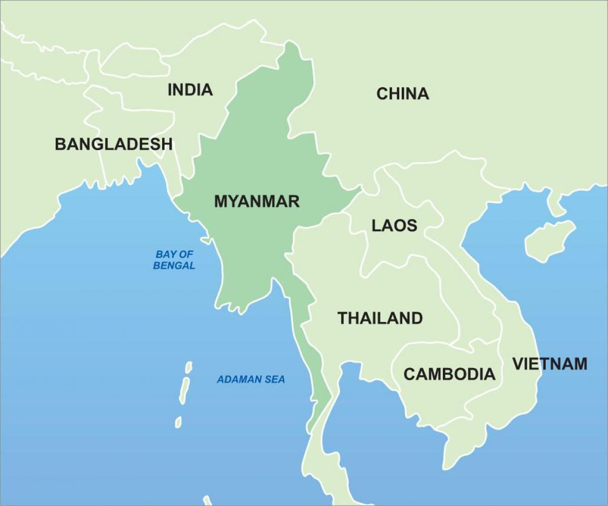 Karte Asien.Myanmar Karte Asien Myanmar Auf Der Karte Von Asien Süd Ost