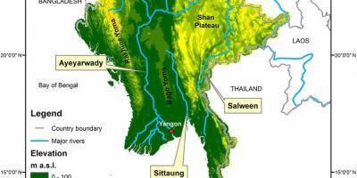 Malaria Karte Thailand.Myanmar Burma Karte Karten Von Myanmar Burma Sud Ost