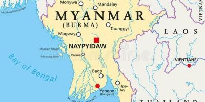 Karte Myanmar.Myanmar Burma Karte Karten Von Myanmar Burma Süd Ost Asien